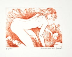 Nénuphar - Original Etching ad Drypoint by A. Doré - 1950s