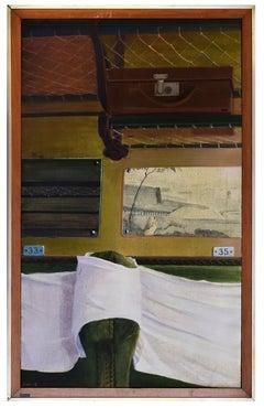 Living Room - Original Mixed Media by Fabio Rieti - 1972