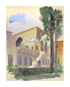 Beil Eddim - Original Watercolor on Paper by Emile Deschler - 1940