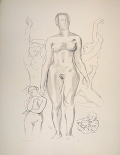 Standing Female Nude - Original Lithograph by Raymond Veysset