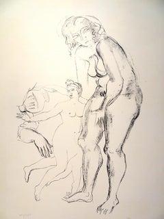 The Handmaids  - Original Lithograph by Raymond Veysset