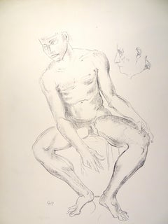 Male Nude  - Original Lithograph by Raymond Veysset
