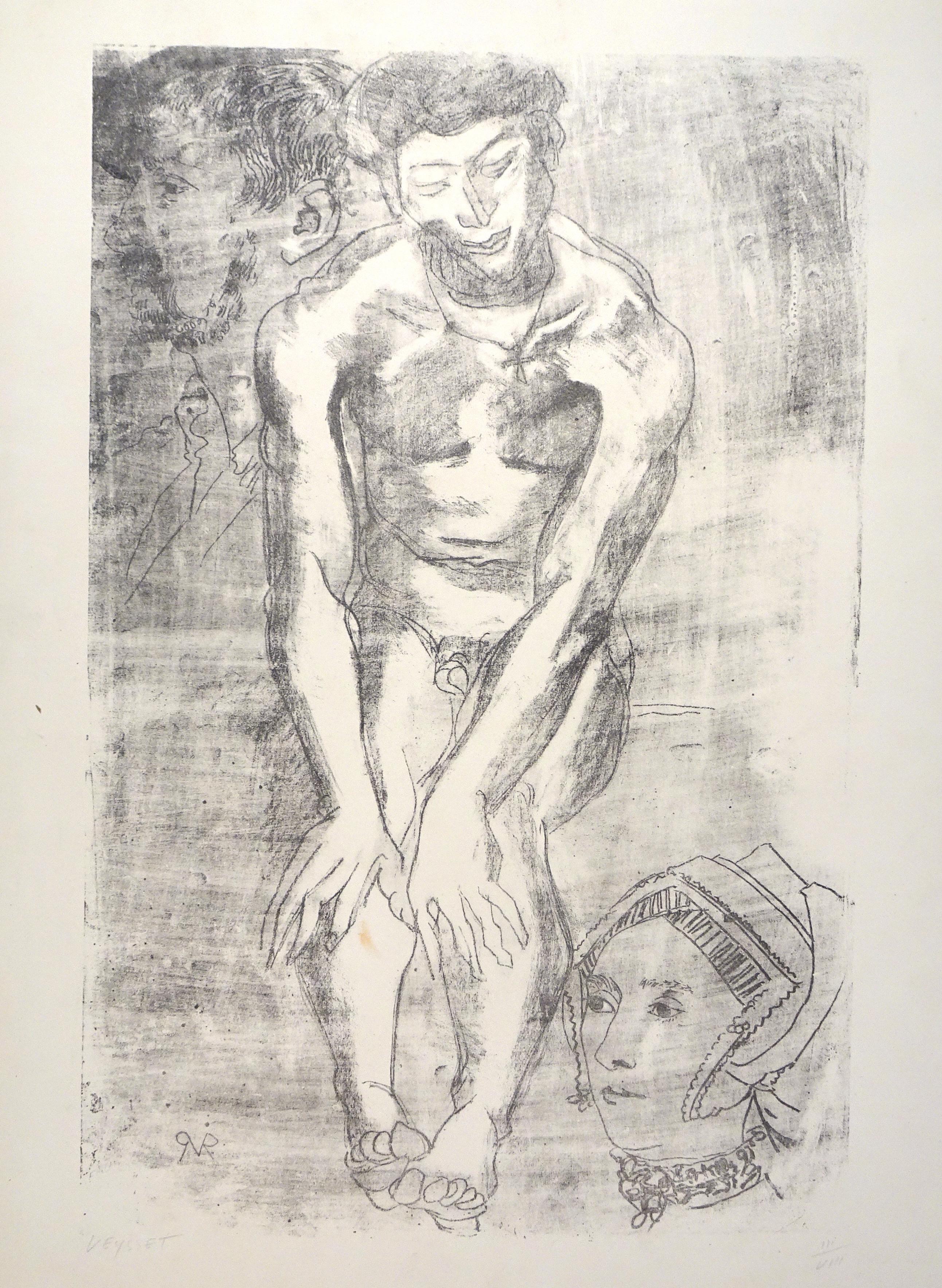 Nude  - Original Lithograph by Raymond Veysset