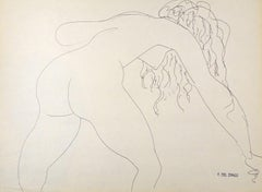 Nude - Original Pen Drawing by Francesco del Drago