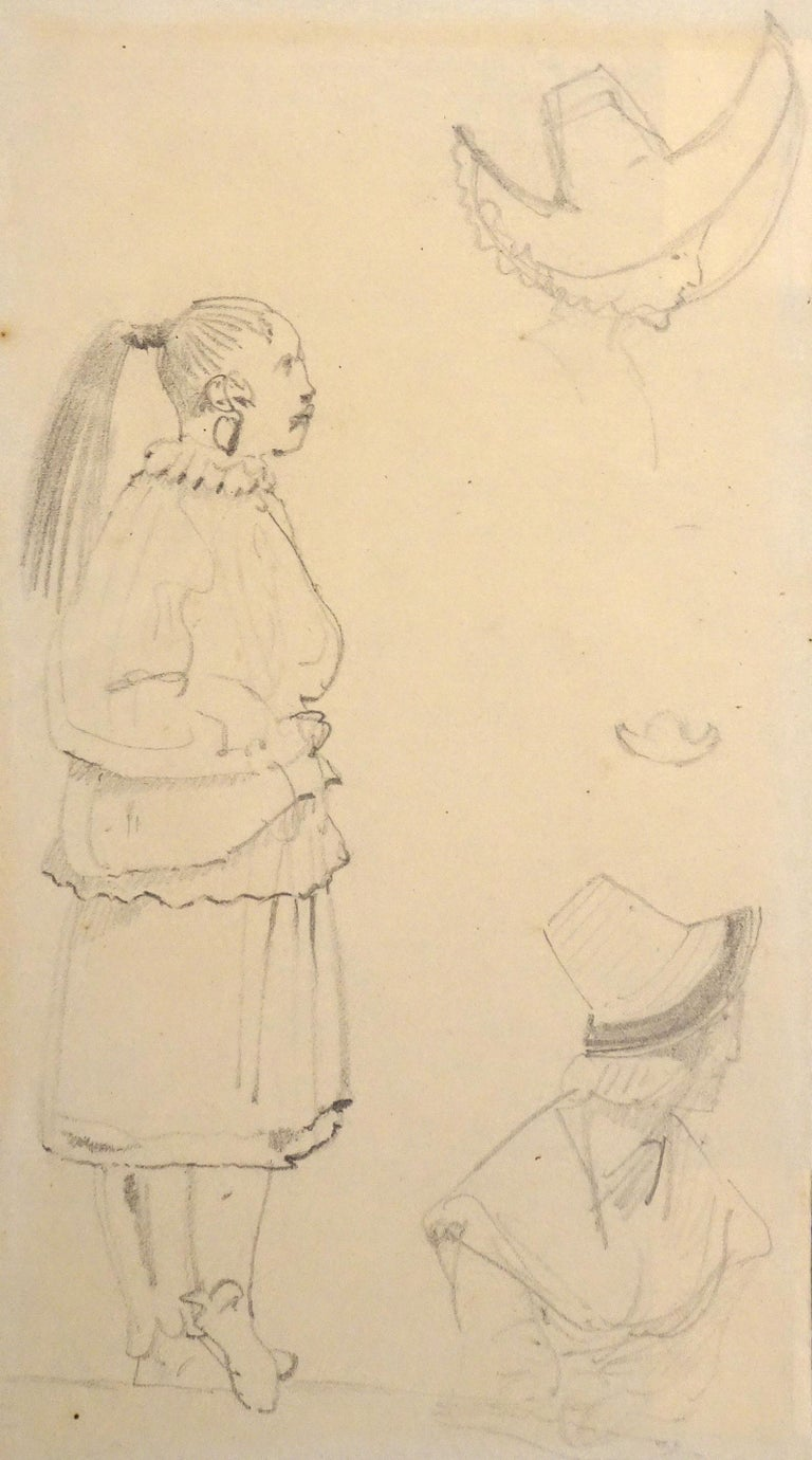 Caricatures - Original Pencil Drawing by Horace Vernet - Mid 1800 - Art by Emile Jean Horace Vernet