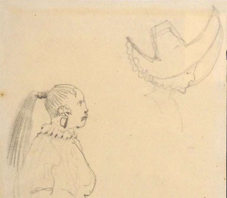 Caricatures - Original Pencil Drawing by Horace Vernet - Mid 1800 For Sale 1