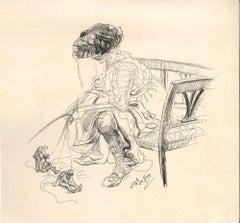 The Manipulator - Original Ink Drawing by Lac Man