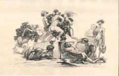 The Grapes Harvest - Original Ink Drawing by Lac Man