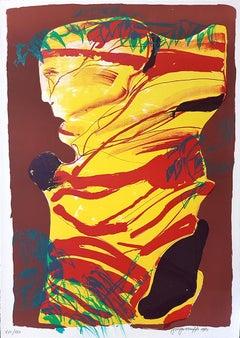 Warrior - Original Lithograph by Ugo Maffi - 1974
