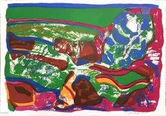 Dog in Terraverde - Original Lithograph by Ugo Maffi - 1974