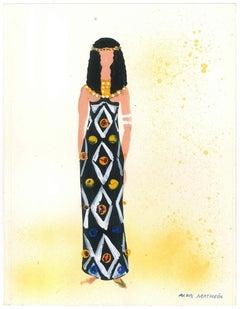 Proof for a Costume - Original Tempera by A. Matheos