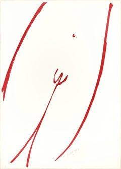 Agrà su Bianco - 20th Century - Sante Monachesi - Lithograph - 1970 ca.