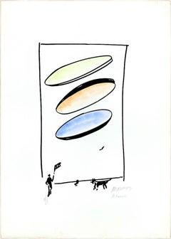 Dog - 20th Century - Sante Monachesi - Lithograph - 1970 ca.