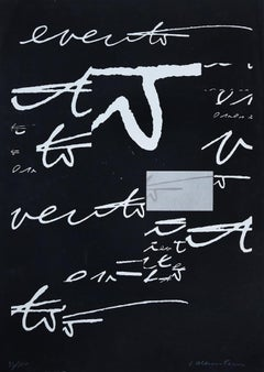 Hidden Signs - Original Lithograph by Plinio Mesciulam - 1970s