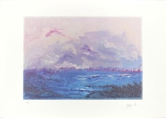The Storm - Original Lithograph by Martine Goeyens - 21th Century