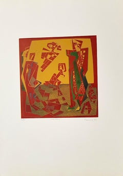 Characters - Original Etching by Adam Moussa - 1971
