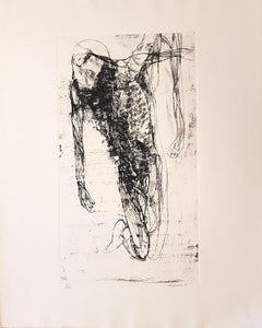 On Knees - Original Etching by Renzo Vespignani - 1962
