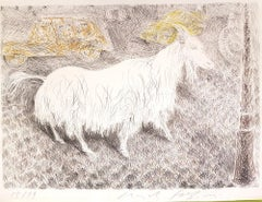 The Goat - Original Lithograph by Pericle Fazzini - 1971
