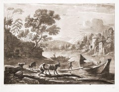 Liber Veritatis - Original B/W Etching after Claude Lorrain - 1815