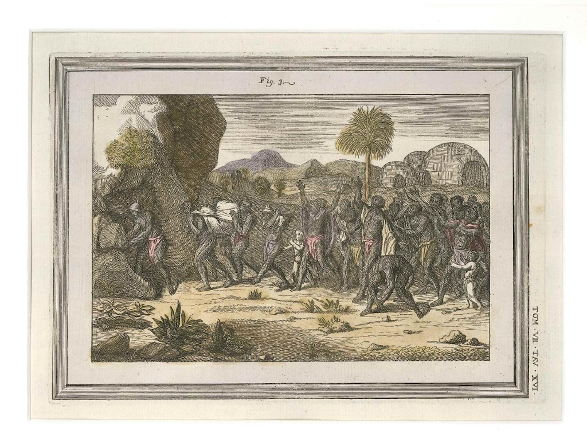 Funeral Procession among the Indigenouses - by G. Pivati - 1746-1751