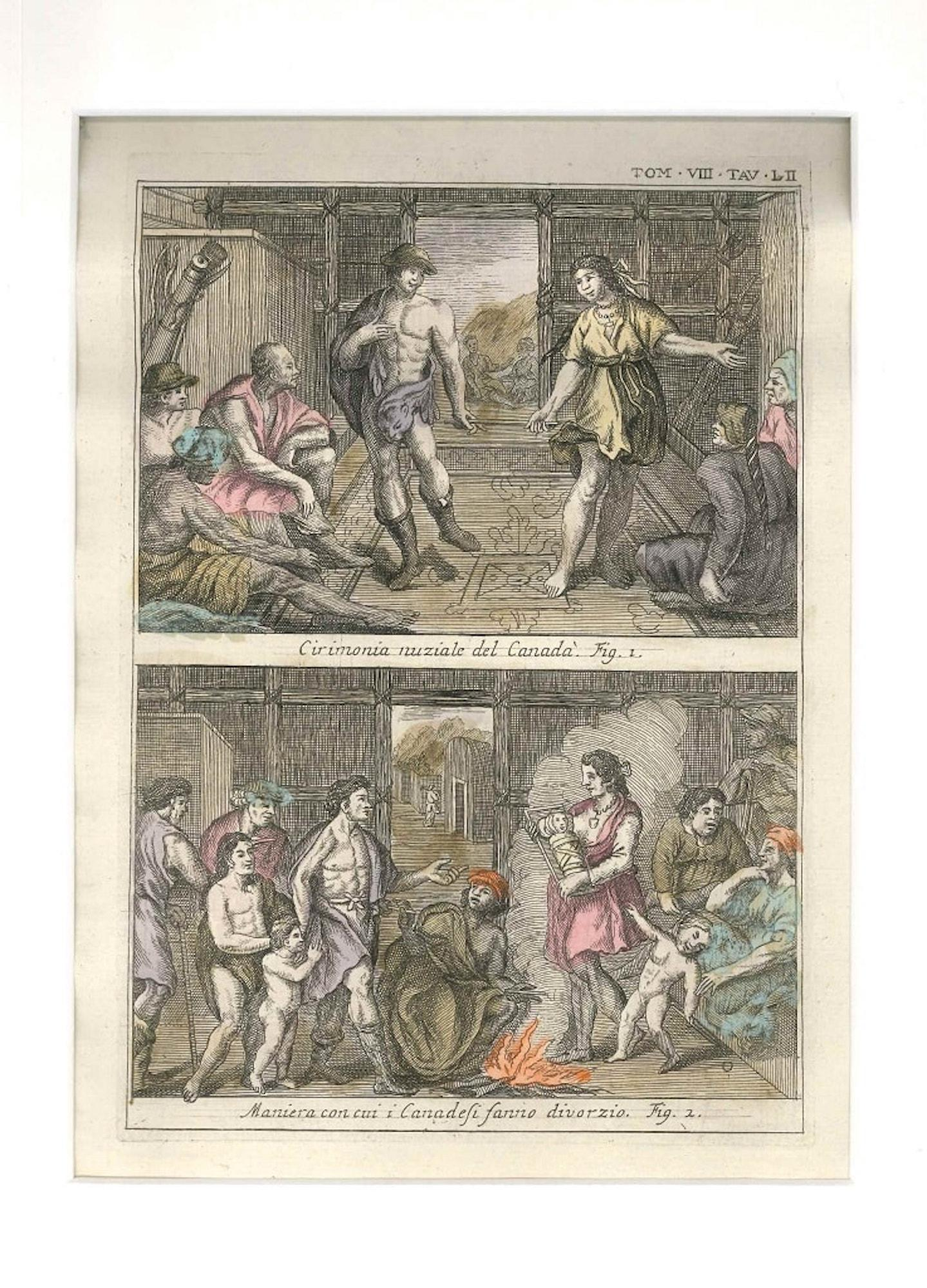Wedding and Divorce among the Canadians - by G. Pivati - 1746-1751