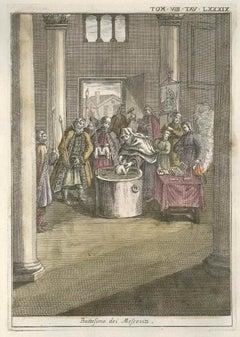 Moscovian Christening - by G. Pivati - 1746-1751