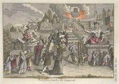 Japanese Funeral Procession - by G. Pivati - 1746-1751