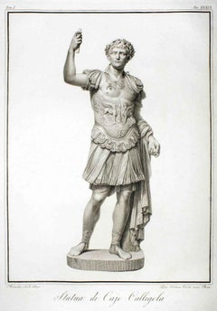 Statue of Calligola - Original Etching by P. Fontana After B.Nocchi - 1794