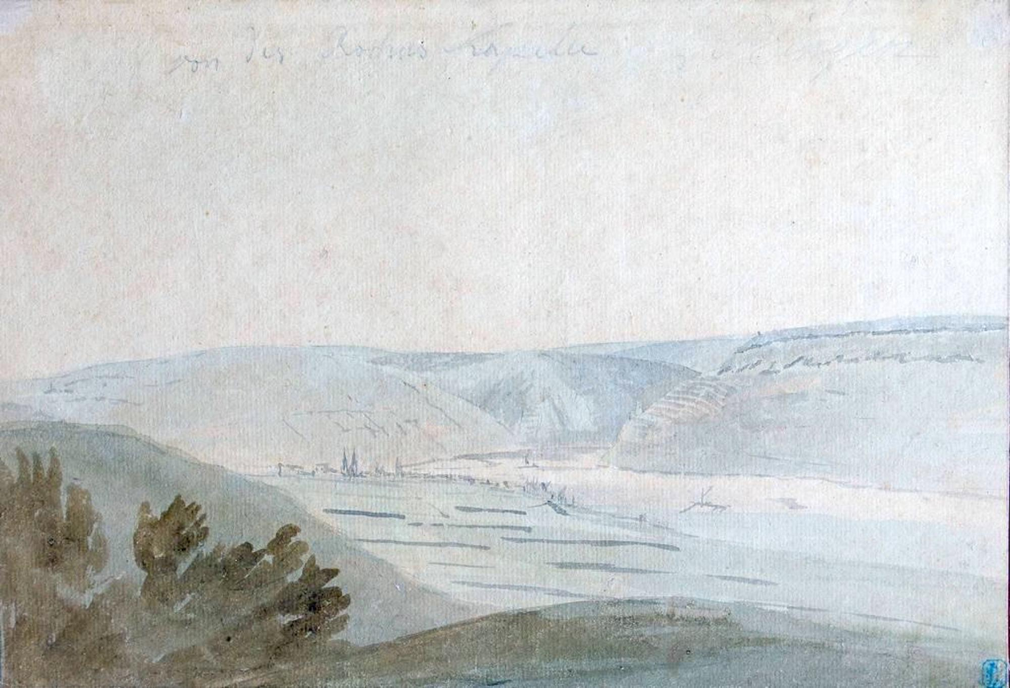 Wide Valley - Watercolor by Anonymous Flemish Master 17th Century