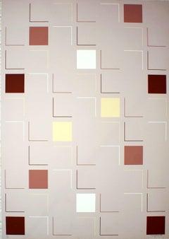 Square (Grey) - Original Screen Print by A. Mengolini - 1976