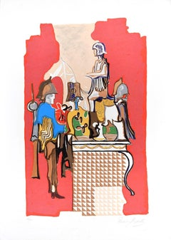 Chevaliers - Original Screen Print by Rosario Mazzella - 1970s