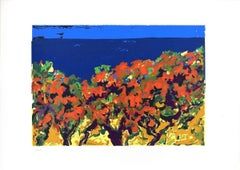 Landscape - Original Screen Print by V. Monti - 1970s