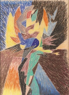 Dancer - Original Pastel Drawing by Gino Severini - 1945