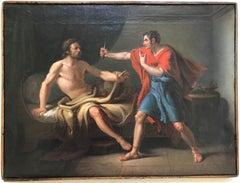 Muzio Scevola and Porsenna - Original Oil on Canvas by Gaspare Landi - Late 1700