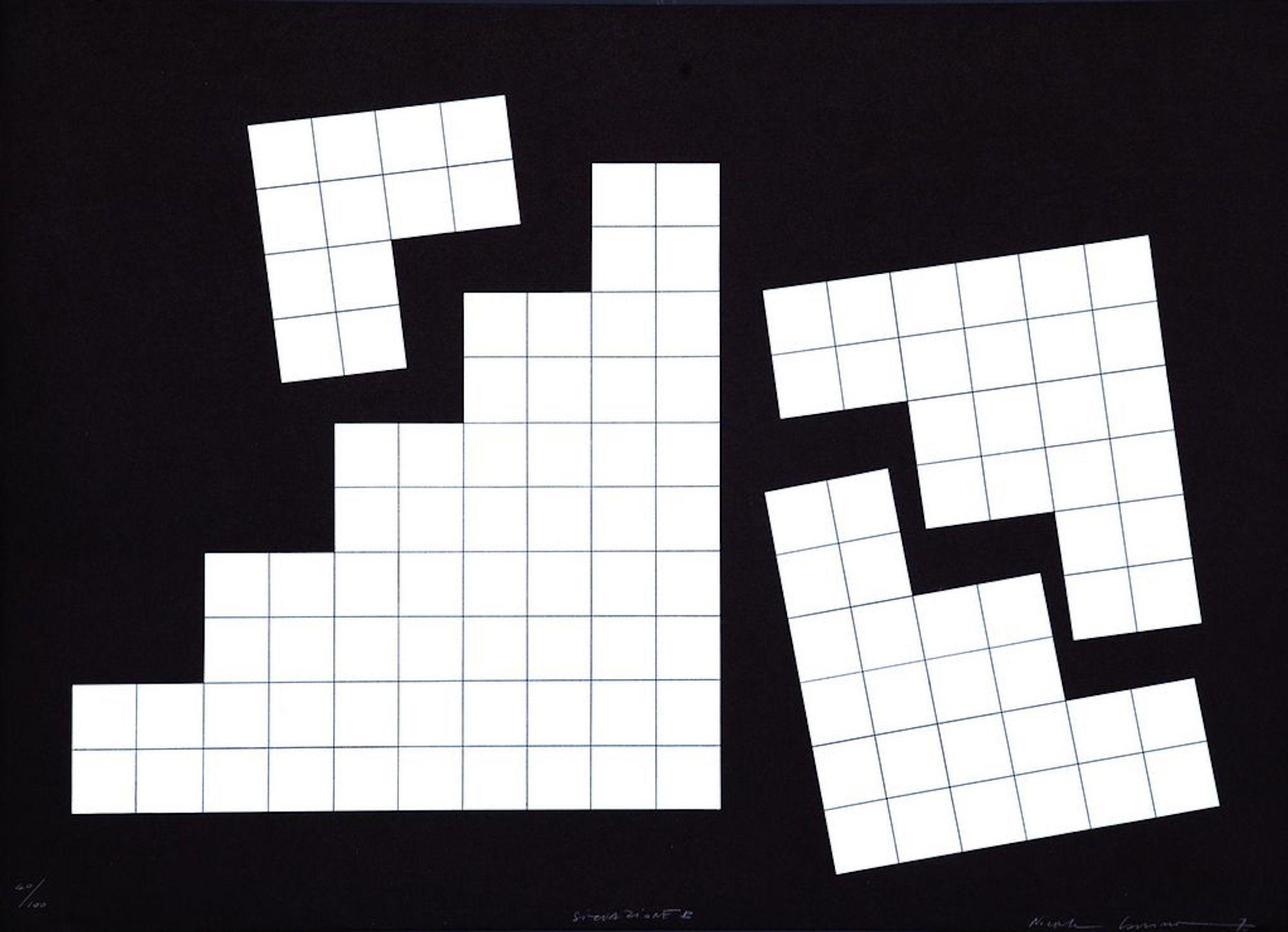 Situation B - Original Screen Print by Nicola Carrino - 1970s