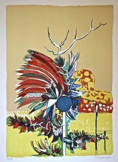 Flower Explosion - Original Lithograph by Pietro Carabellese - 1970s