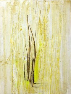 Grass Marks - wax pigments and grass blades - by Claudio Palmieri - 2010