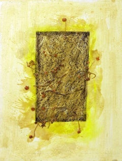Grass Marks - Original Mixed Media by Claudio Palmieri - 2008
