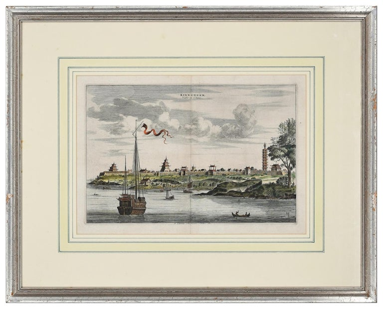 View Of Kinnungam - Original Hand Watercolored Etching by A. Leide - Print by Pieter Van Der Aa