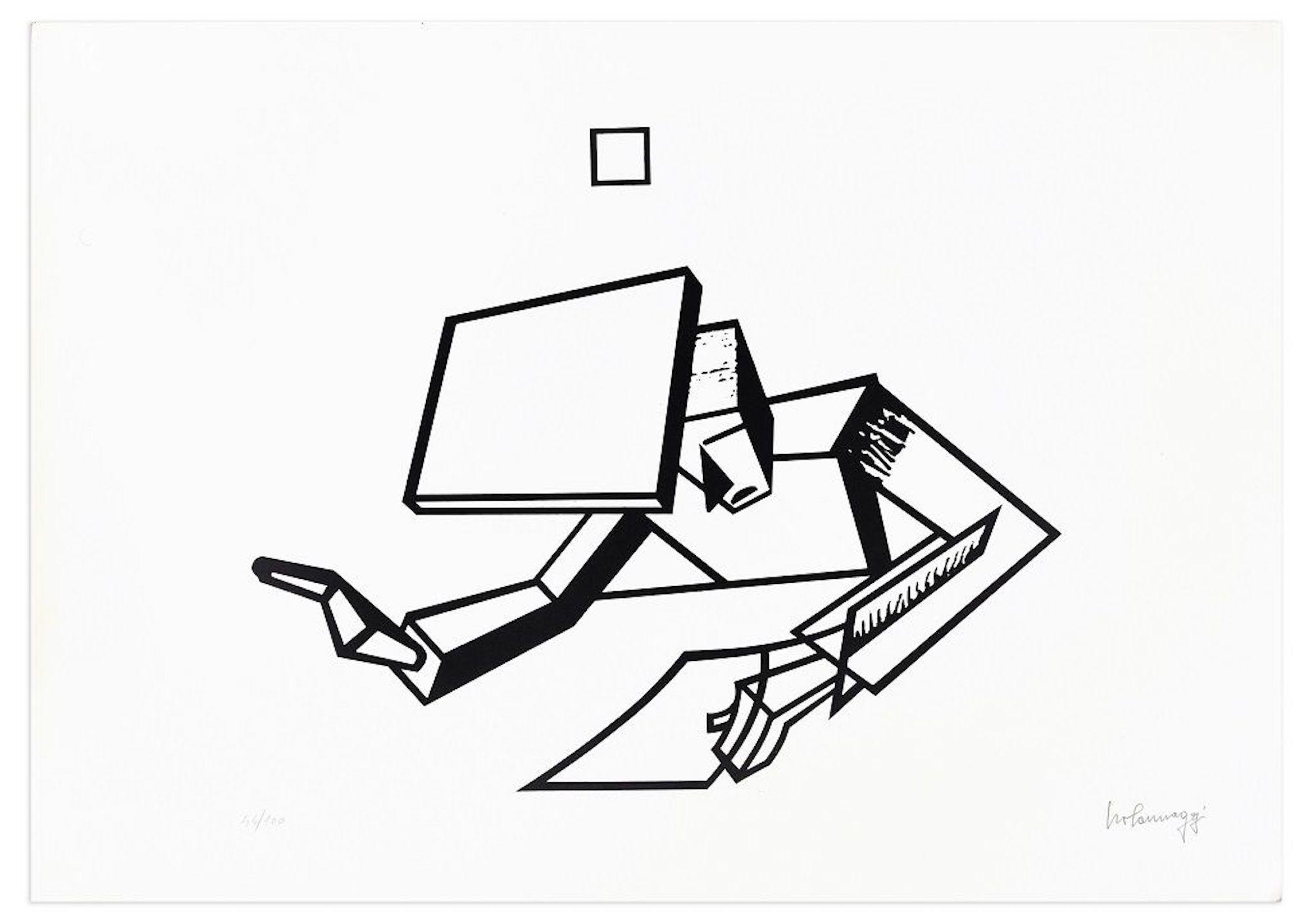 The Instigator - Original Lithograph by Ivo Pannaggi - 1975 ca.