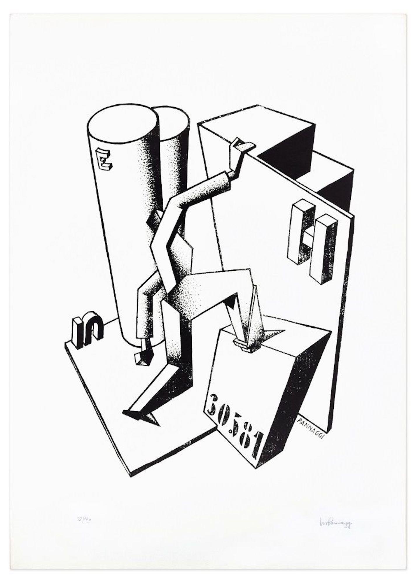 The Climber - Original Lithograph by Ivo Pannaggi - 1975 ca.