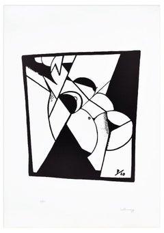 Female Nude - Original Lithograph by Ivo Pannaggi - 1975 ca.