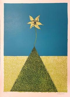 On the Top - Original Lithograph by Renzo Margonari - 1976