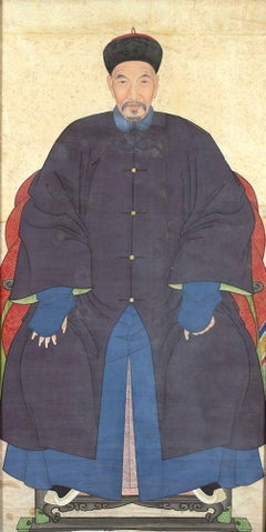 Ancestor - Original China Ink and Tempera on Paper - Late 19th Century