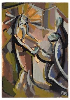 Appareil du Christ à la Colonne - Original Tempera by Paul Bony - 1932