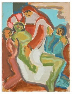 The Pietà - Original Tempera by Paul Bony - 1933