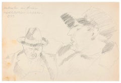 Ritratti (Portraits) - Original Pencil Drawing by Ildebrando Urbani - 1933