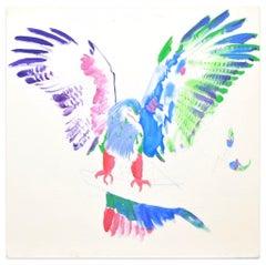Eagle in Color - Original Oil on Canvas by Anastasia Kurakina - 2019
