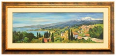 View of Aetna - Original Oil on Canvas by Luciano Sacco - 1973