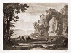 Liber Veritatis - Original B/W Etching after Claude Lorrain - 1815